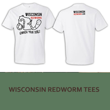 Wisconsin Redworms Tees